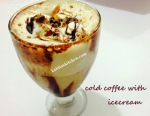 Cold Coffee with Ice Cream and Nuts
