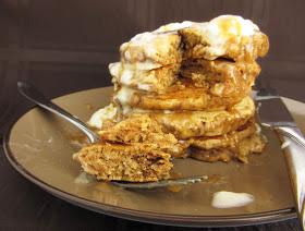caramel latte pancakes slice