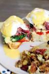 Eggs Benedict with Corned Beef & Cabbage Hash Irishstyle