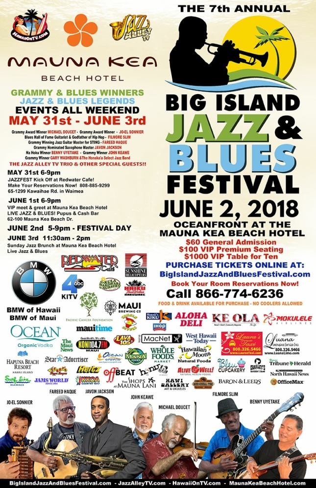 Hawaii Jazz and Blues Festival (annual) | AMERICA ON COFFEE